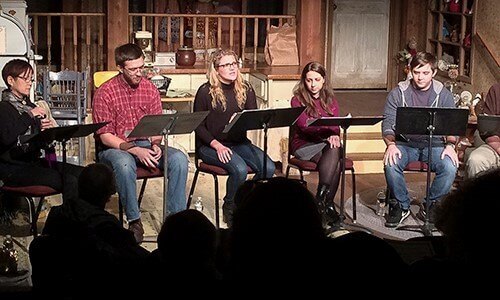 Photo: a Staged reading of a play.