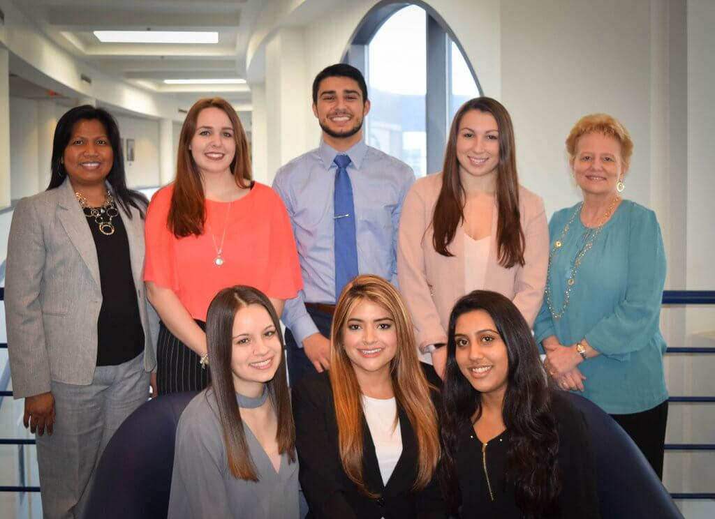 Group photo of Beta Gamma Sigma Student Chapter Officers and Chapter Advisors