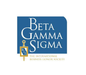 Click or tap for more information on Beta Gamma Sigma Honor Society
