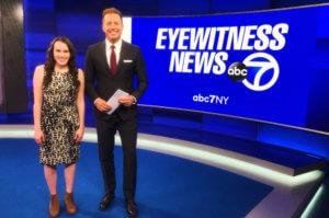 Photo of ABC7NY Sports News Intern Samantha Casano (left)