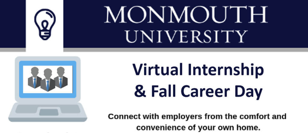 Graphic for Virtual Internship and Fall Career Day