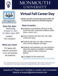 Photo image of flyer for 2021 Virtual Fall Career Day