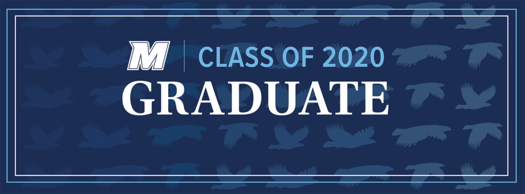 MU 2020 Facebook, Twitter, and LinkedIn Cover Photo for Graduate: M Logo