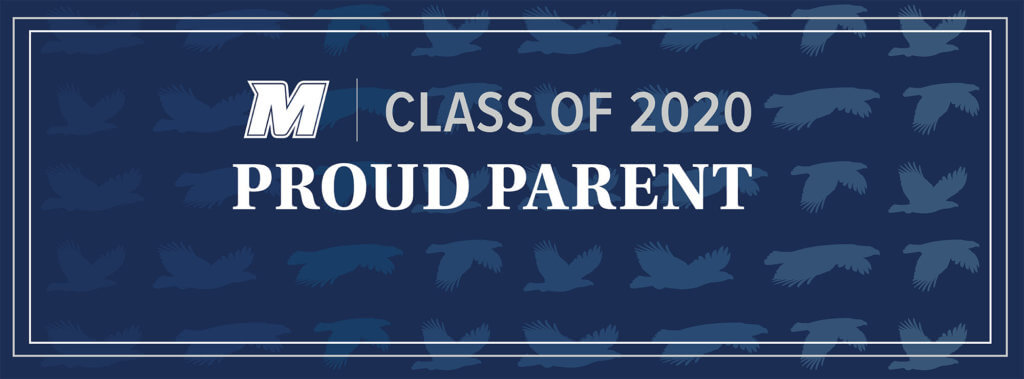 MU 2020 Facebook, Twitter, and LinkedIn Cover Photo for Proud Parent: M Logo