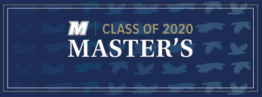 MU 2020 Facebook, Twitter, and LinkedIn Cover Photo for Master's: M Logo
