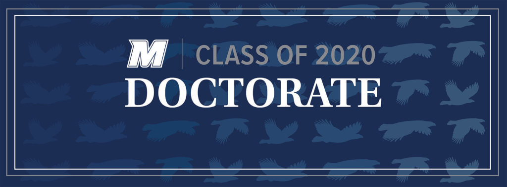 MU 2020 Facebook, Twitter, and LinkedIn Cover Photo for Doctorate: M Logo