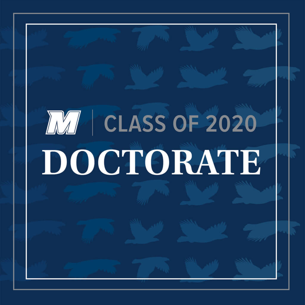 MU 2020 Facebook, Twitter, and LinkedIn Cover Photo for Doctorate: M Logo Class of 2020