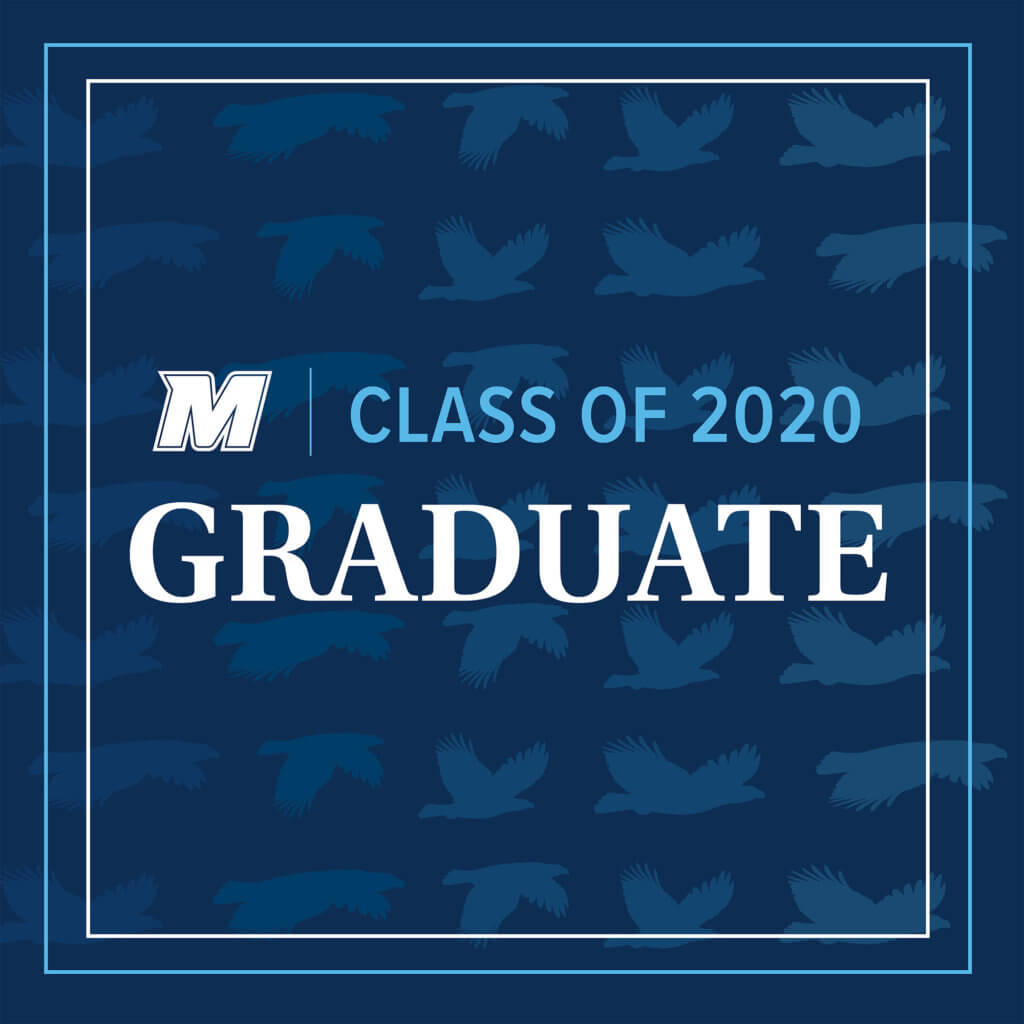 MU 2020 Facebook, Twitter, and LinkedIn Cover Photo for Graduate: M Logo Class of 2020