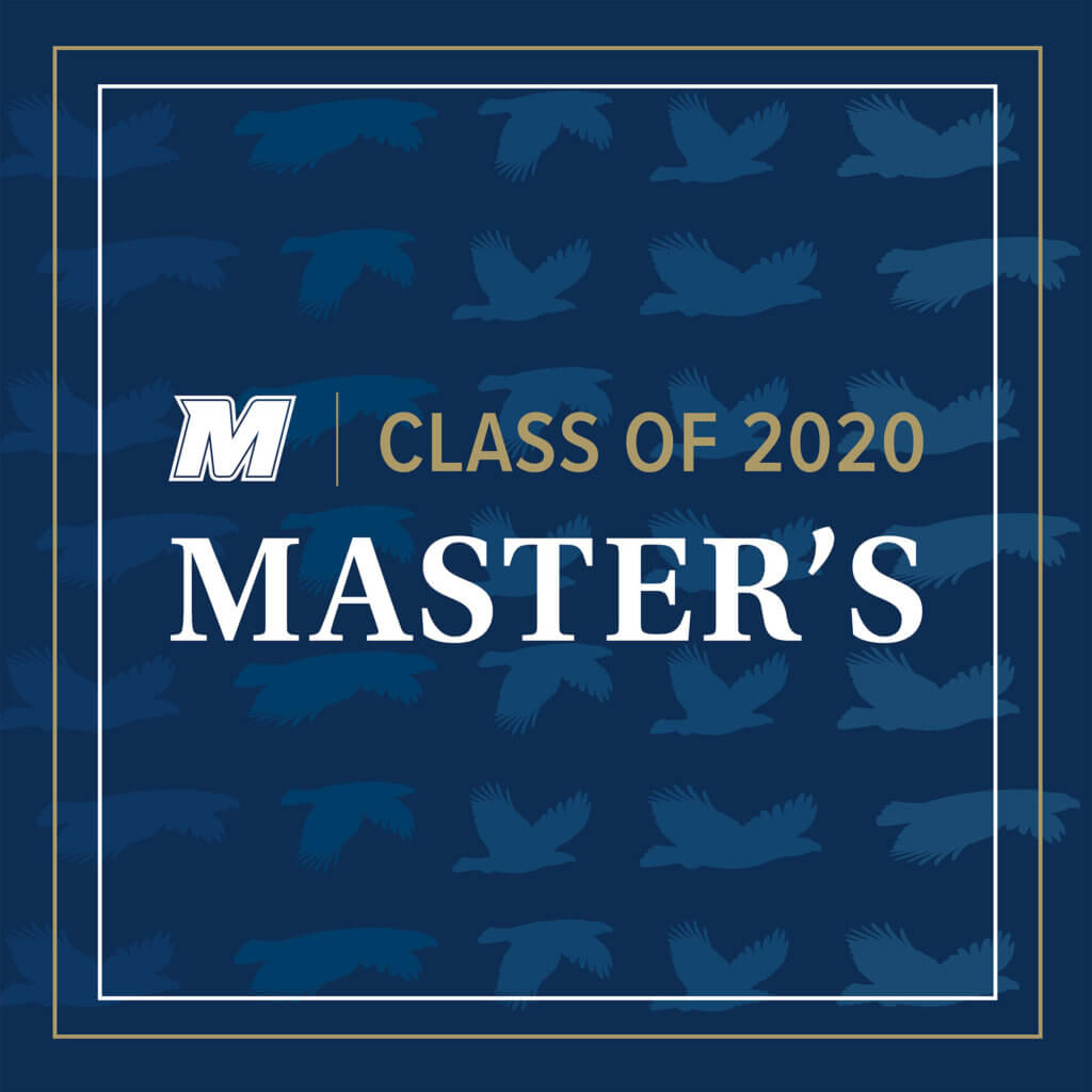 MU 2020 Facebook, Twitter, and LinkedIn Cover Photo for Master's: M Logo Class of 2020