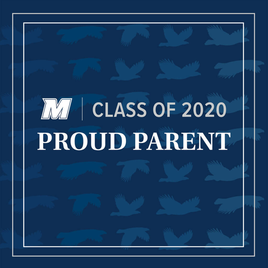 MU 2020 Facebook, Twitter, and LinkedIn Cover Photo for Proud Parent: M Logo Class of 2020