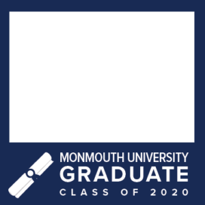 MU Facebook Profile Picture Frames: Graduate Class of 2020 Blue with Diploma