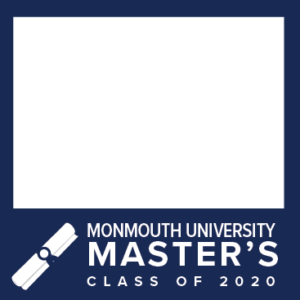 MU Facebook Profile Picture Frames: Master's Class of 2020 Blue with Diploma