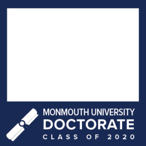MU Facebook Profile Picture Frames: Doctorate Class of 2020 Blue with Diploma