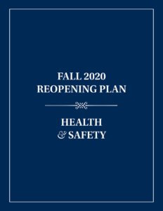 Fall 2020 Reopening Plan for Health and Safety