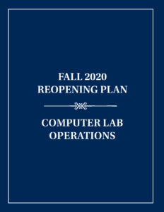 Computer Lab Operations  Reopening Plan