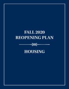 Housing Reopening Plan