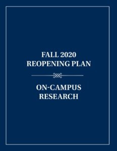 On-Campus Research Reopening Plan