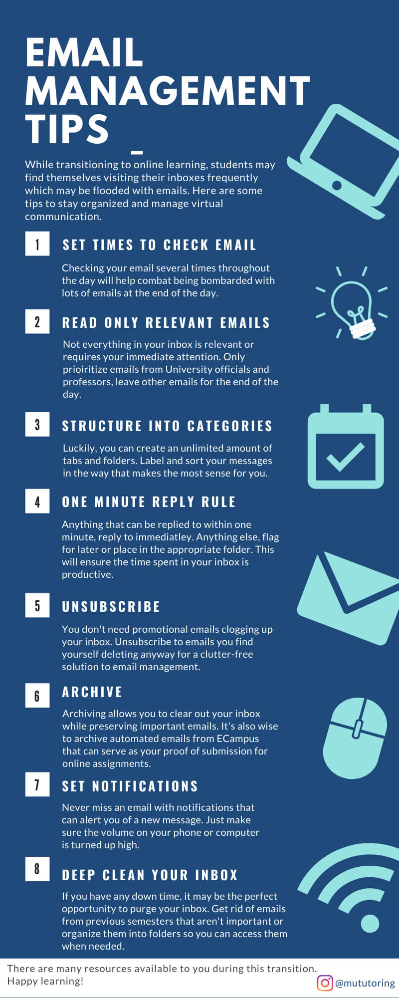Infographic for Email Management Tips: Click for larger view and printing