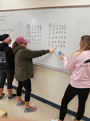 Math Classroom - Students at Board