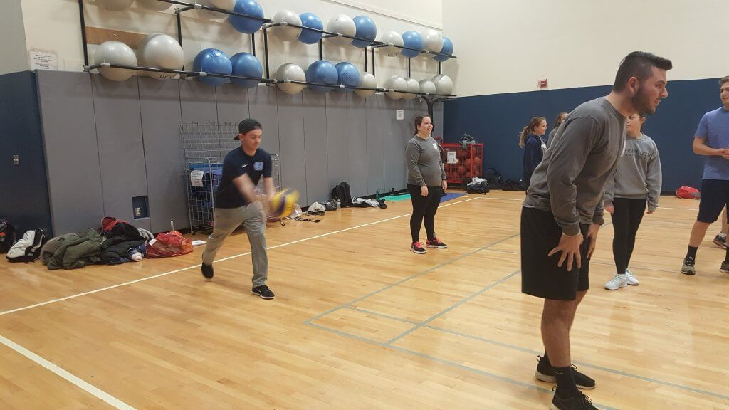 Photo of Math Club Event Student vs. Faculty Volleyball Game
