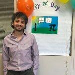 Photo of Dr. Palsu-Andriescu enjoying Pi Day