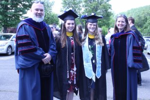 Photo of Drs. David and Susan Marshall with Chrystal Stasicky and Jenna Koppel