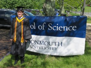 Photo of graduating student John Sabito, one of five valedictorians