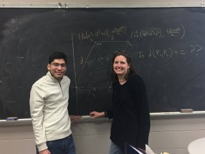 Photo of student Nate Rodriguez and his faculty mentor, Dr. Susan Marshall