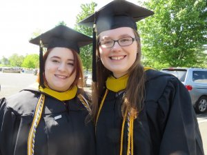 Photo of graduating students Melissa and Alex