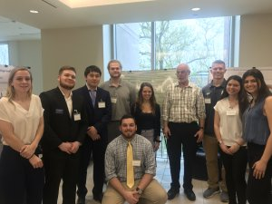Photo of Dr. Bastian and his Spring 2019 Statistical Consulting students
