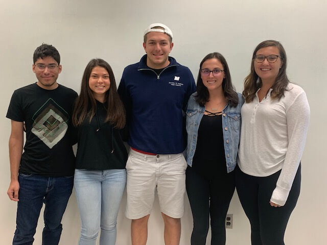 Group photo of 2019-2020 Math Club Officers