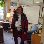 Photo of Dr. Coyle dressed as a pirate for Halloween