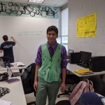 Photo of student dressed for Halloween in the Math Learning Center