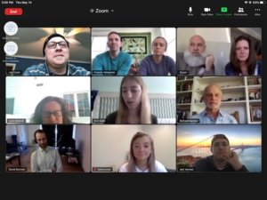 Screenshot of Zoom session for graduates and faculty - 2