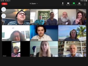 Screenshot of Zoom session for graduates and faculty - 3