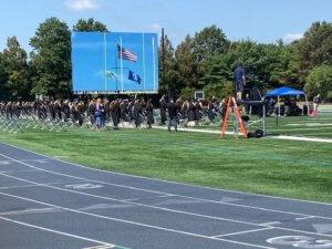 Photo of graduate procession at MU Summer 2020 Graduation