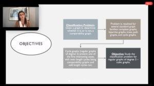 Screenshot of Olivia Verni presentation during SRP Zoom session