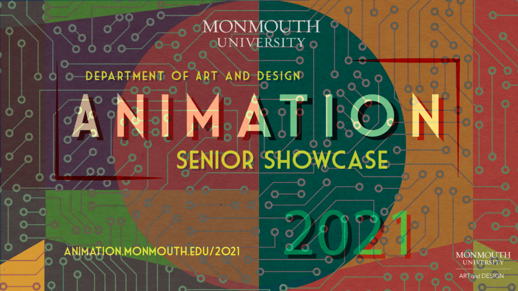 a graphic with the text Animation Senior Showcase 2021