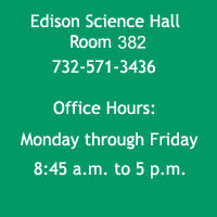 Chemistry Dept Office Information