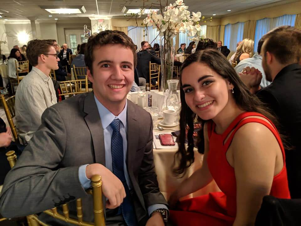 Photo of students attending the annual Comm Awards Banquet