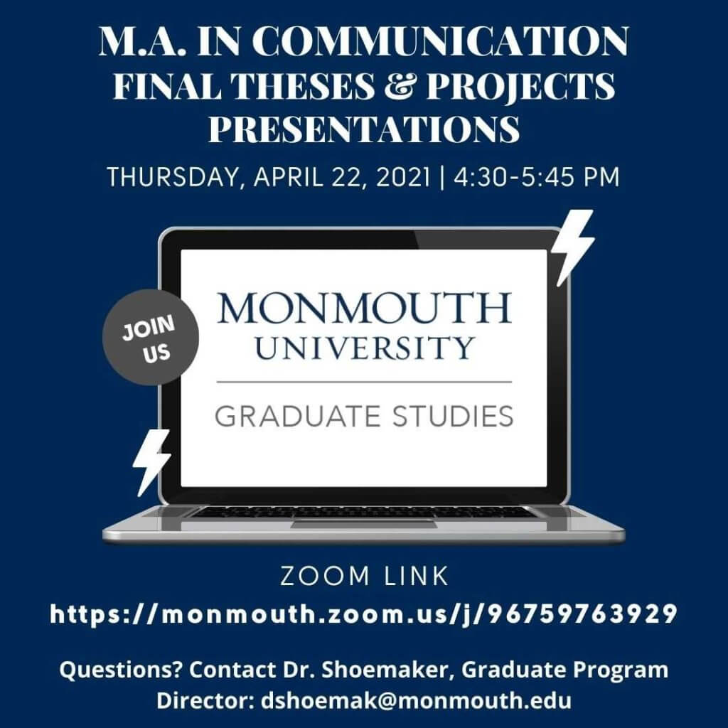 M.A. in Communication Final Theses & Projects Presentations