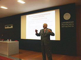 Prof. Obaidat at InfoWare