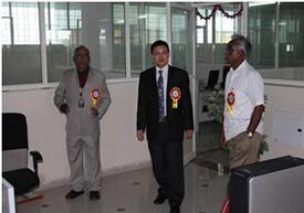 Prof. Wang at Hyderabad