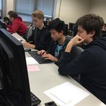 Students participating in the recent High School Programming Contest