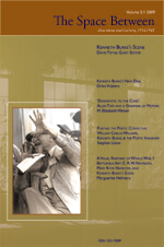 The Space Between: 2009 Issue Cover