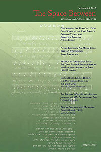 The Space Between: 2010 Issue Cover