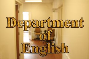 Image of Department of English Glass Door Sign