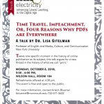 Image of flyer for Ink & Electricity Lecture Series event