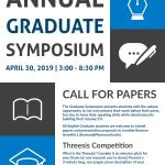 Image of flyer for annual English Graduate Symposium