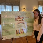 "Photo shows Emily Osterman, during ""Service Learning Showcase"" event"